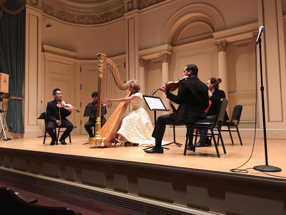 With String Quartet performing Handel Concerto