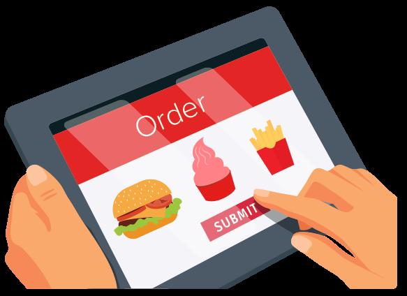 QSR tablet ordering
