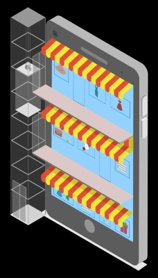 Mobile shopping mall