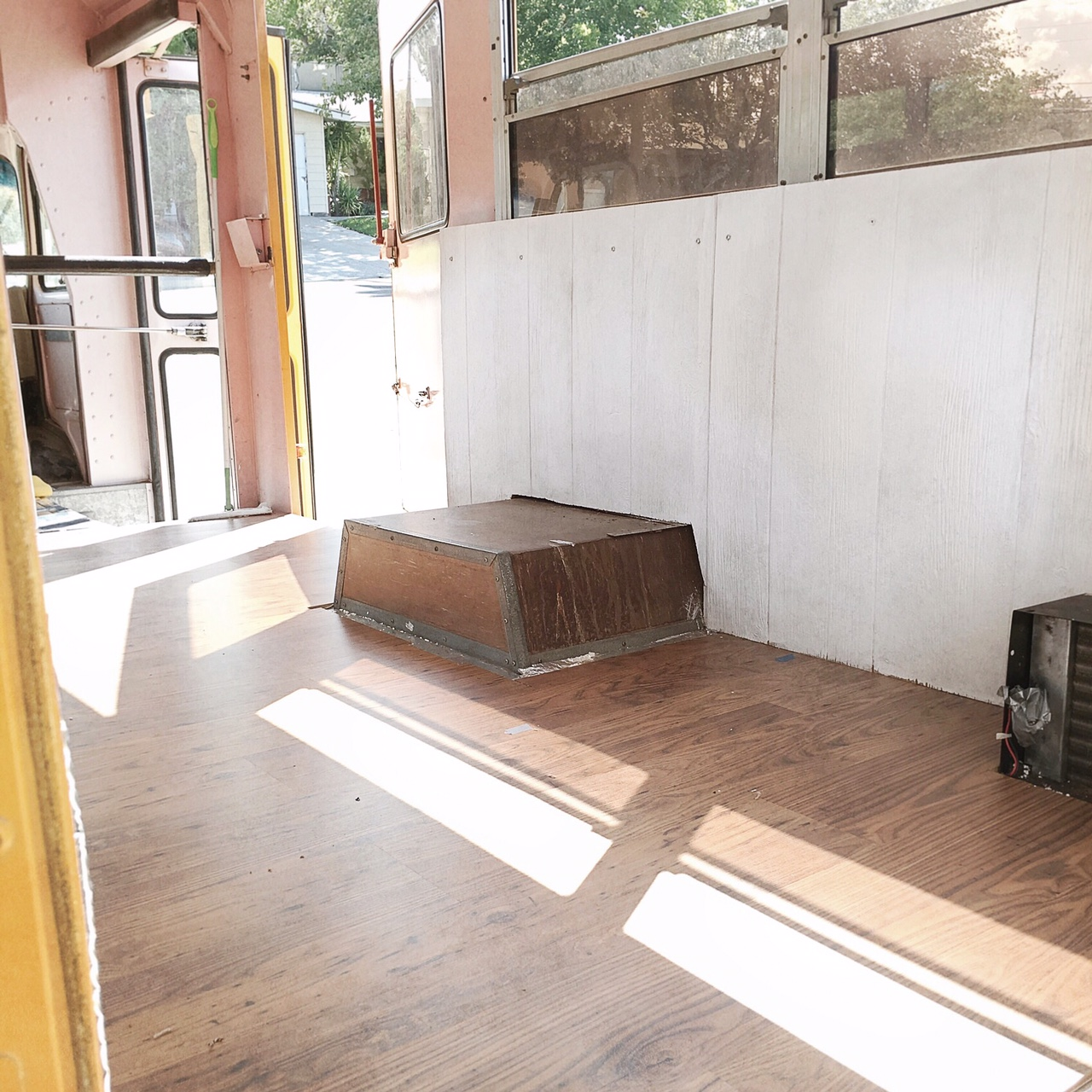 Floor and side walls.