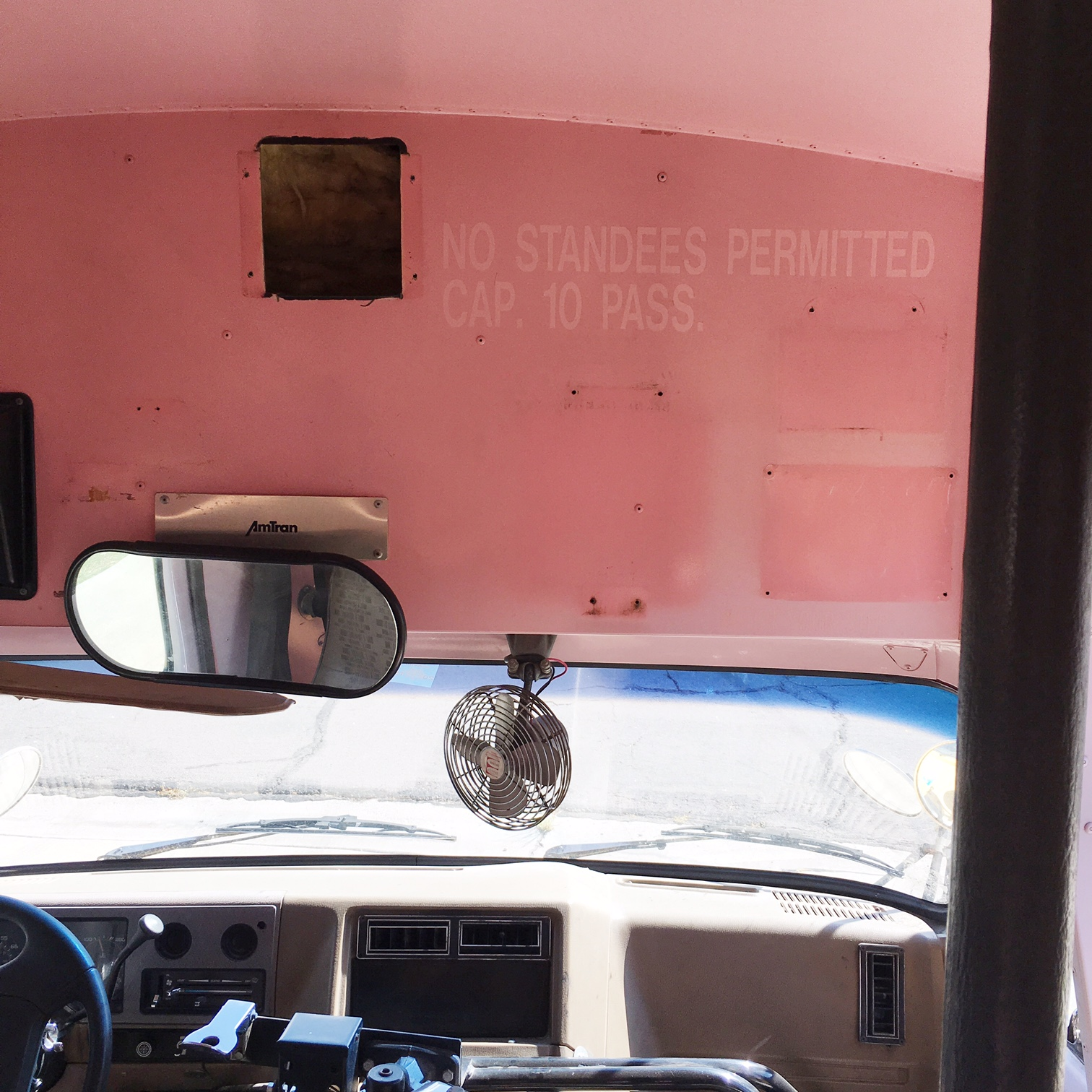 All the stickers, and other stuff removed, and ready to paint. Bye, bye pink.