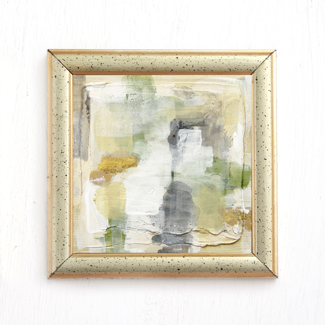 Pathway - abstract mixed media painting gray olive green beige by Jennifer Lorton.jpg