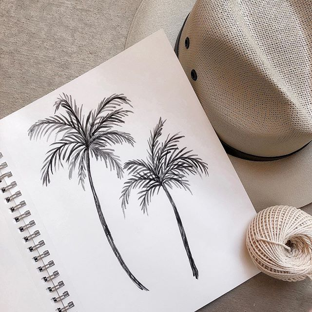 Currently captivated by palm trees. I'm on the lookout for some palm fronds to decorate with - says the girl, who's wandering around, with a pair of clippers in her hand. 🌴 ⠀⠀⠀⠀⠀⠀⠀⠀⠀ Attn. fellow palm tree lovers, I'm going to have some boho-inspired palm tree goods in my next sale. I'll be announcing the date of my next sale very soon. . . . . . . . . . . . . . . . . .  #bohodecor #palmtrees #sketchbook #designideas #coastalliving #neutraldecor #seekthesimplicity #handmadewithlove #makersmovement #bohostyle #modernbohemian #scandiboho #thenewbohemians #showmeyourboho #howiboho #sodomino #howwedwell #howihaven #lonnyliving #mybohotribe #mybohemianabode #coastalluxe #coastalinteriors #neutraltones #coastaldecor #coastalhome #desertliving