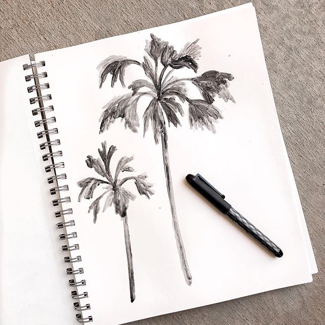 Views from my sketchbook. Swipe to see the kind of things I'm doing with these palm studies. I'm feeling all the beach and desert vibes with this collection - and I love it! ⠀⠀⠀⠀⠀⠀⠀⠀⠀ Assorted palm prints will be available in the next restock. . . . . . . . . . . . . . .  #bohodecor #wallart #designideas #coastalliving #neutraldecor #seekthesimplicity #handmadewithlove #makersmovement #bohostyle #modernbohemian #thenewbohemians #howiboho #howihaven #lonnyliving #mybohotribe #mybohemianabode #coastalluxe #coastalinteriors #naturalhome #desertdecor #desertlife #desertlife🌵#desertvibes #palmtreelife #tropicallifestyle #tropicalvibe