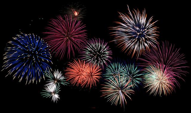 """ Fireworks "" by Adam Carter via Flickr ( CC 2.0 )"