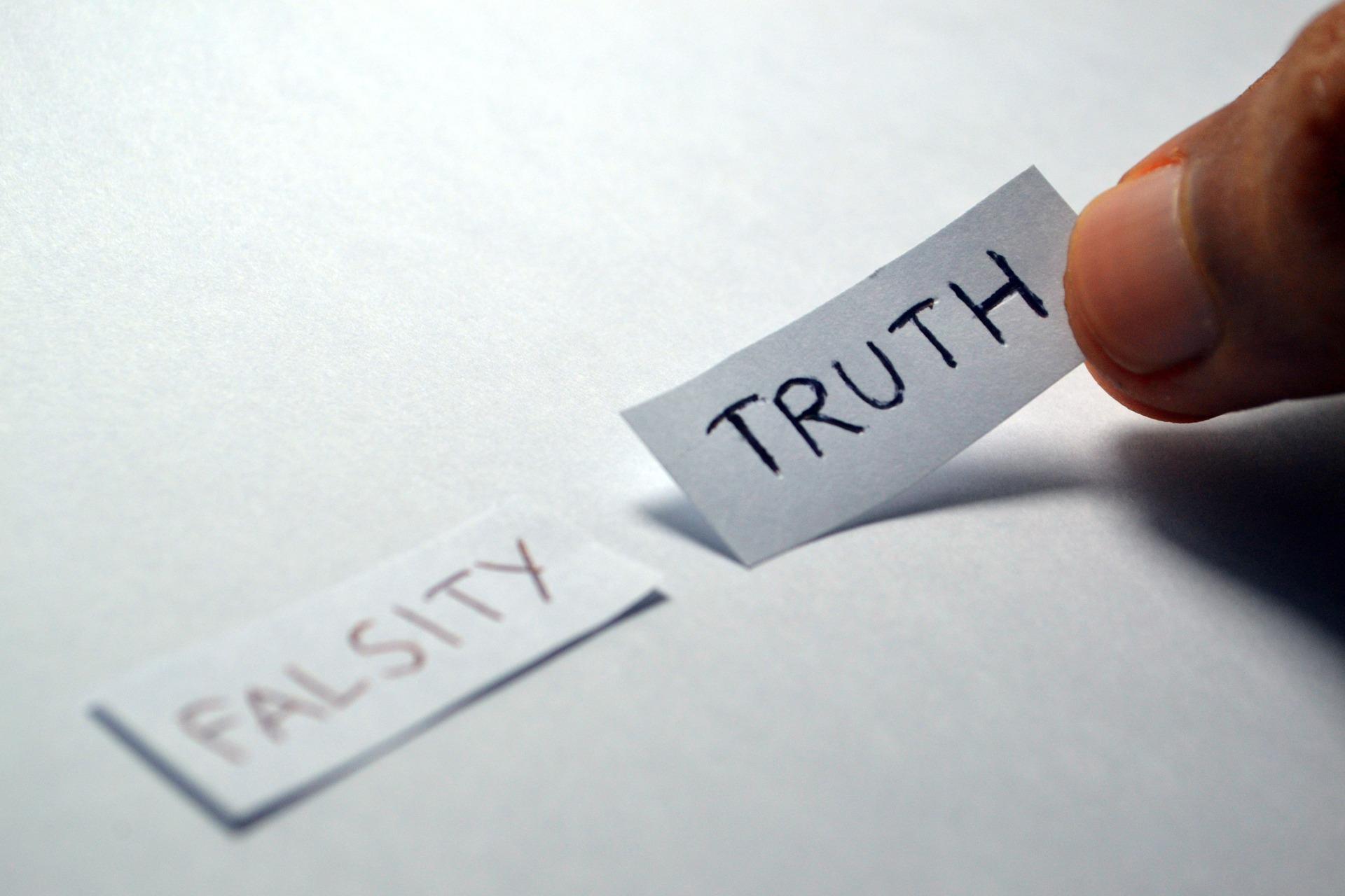 """"""" Truth Falsity """" by Ramdlon via Pixabay (Public Domain)"""