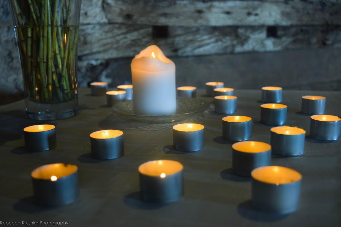 Intention candles from our Summer Day Retreat: Mindfulness and Self-Compassion.