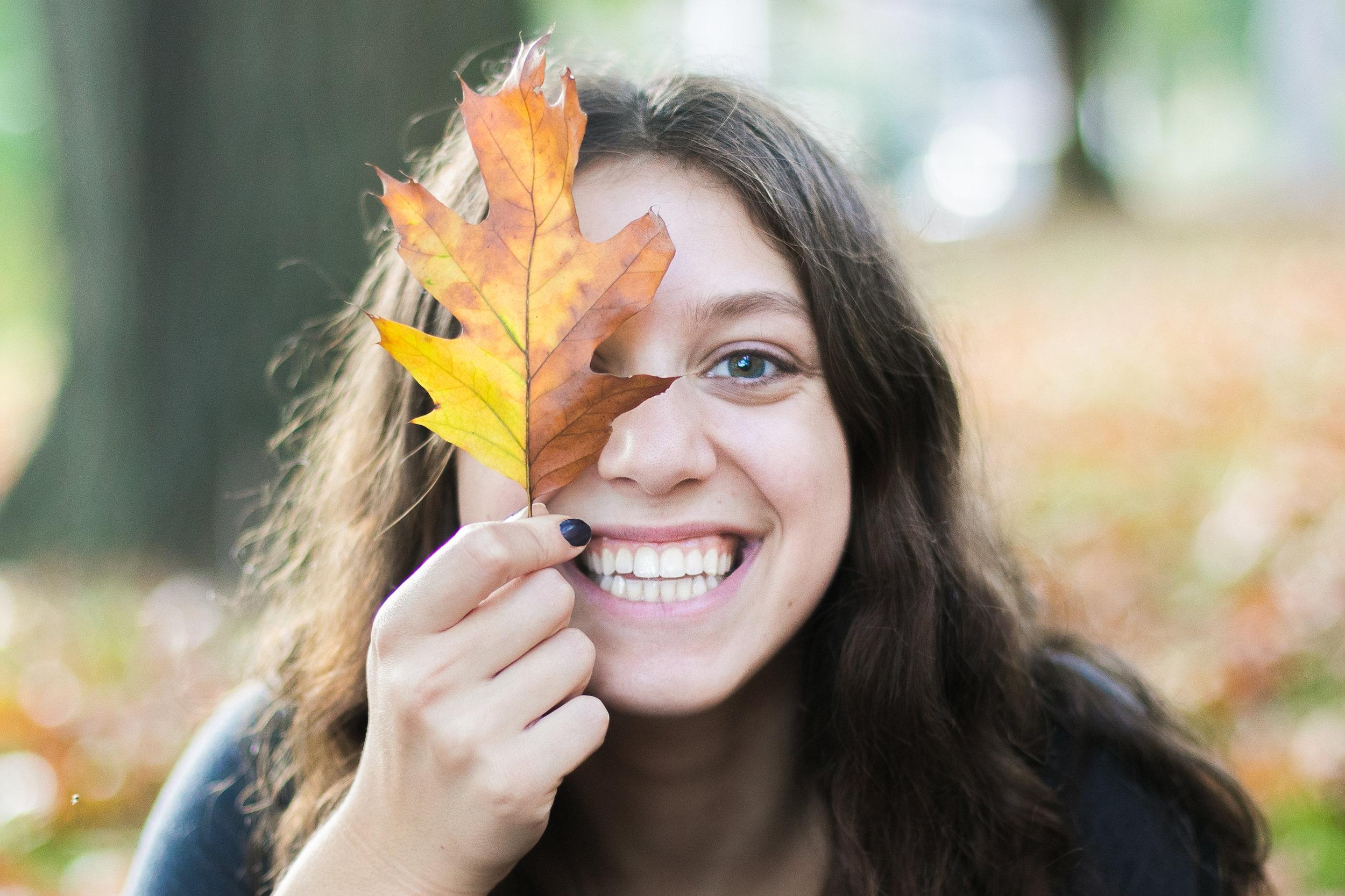 Senior Festive Fall Portrait