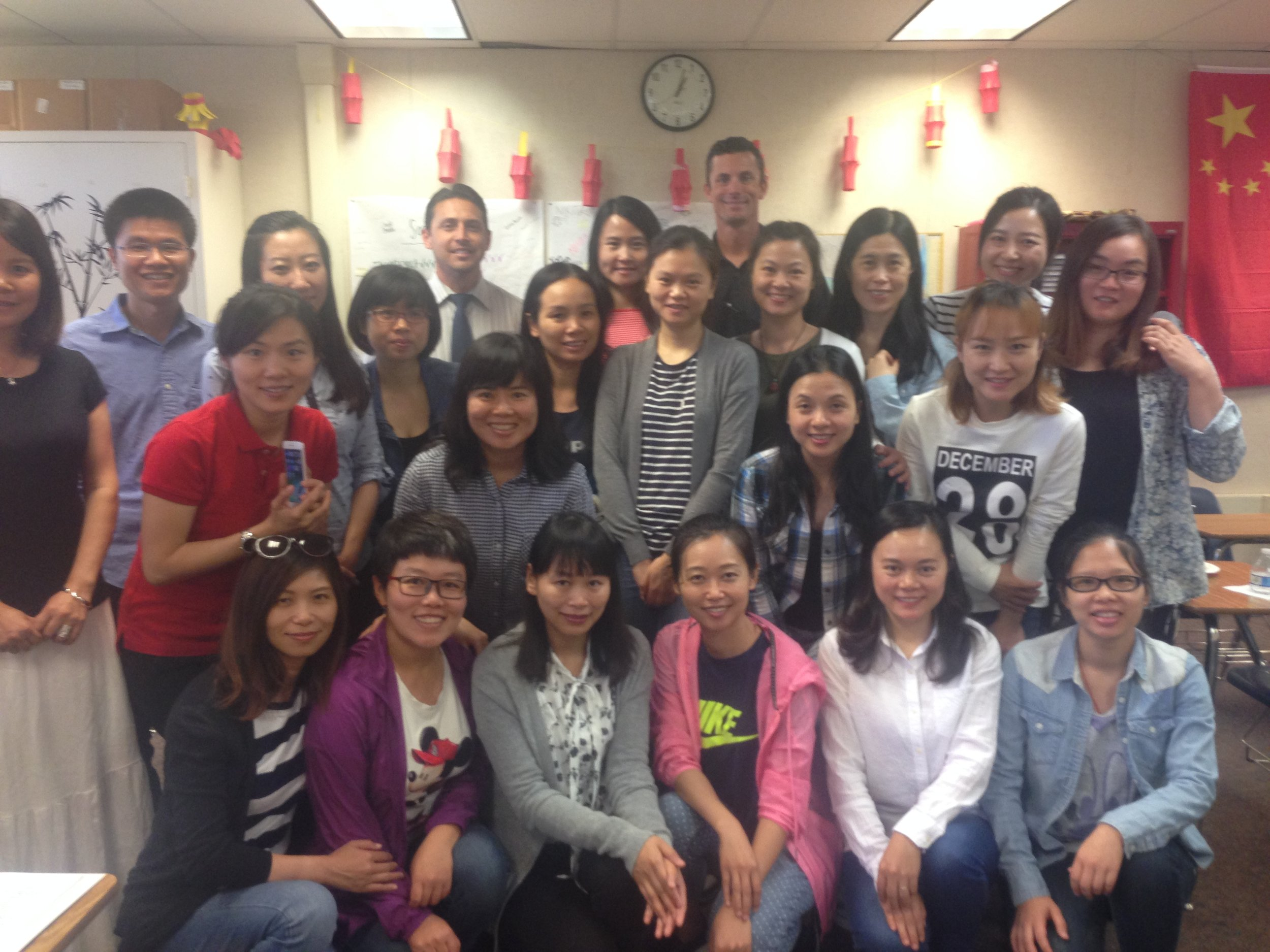 Twenty administrators from guanxi china participated in FIRST global Ambassadors program with a visit and lunch at Savanna High School in the Anaheim Union High School District followed by a presentation by Superintendent mike Matsuda.