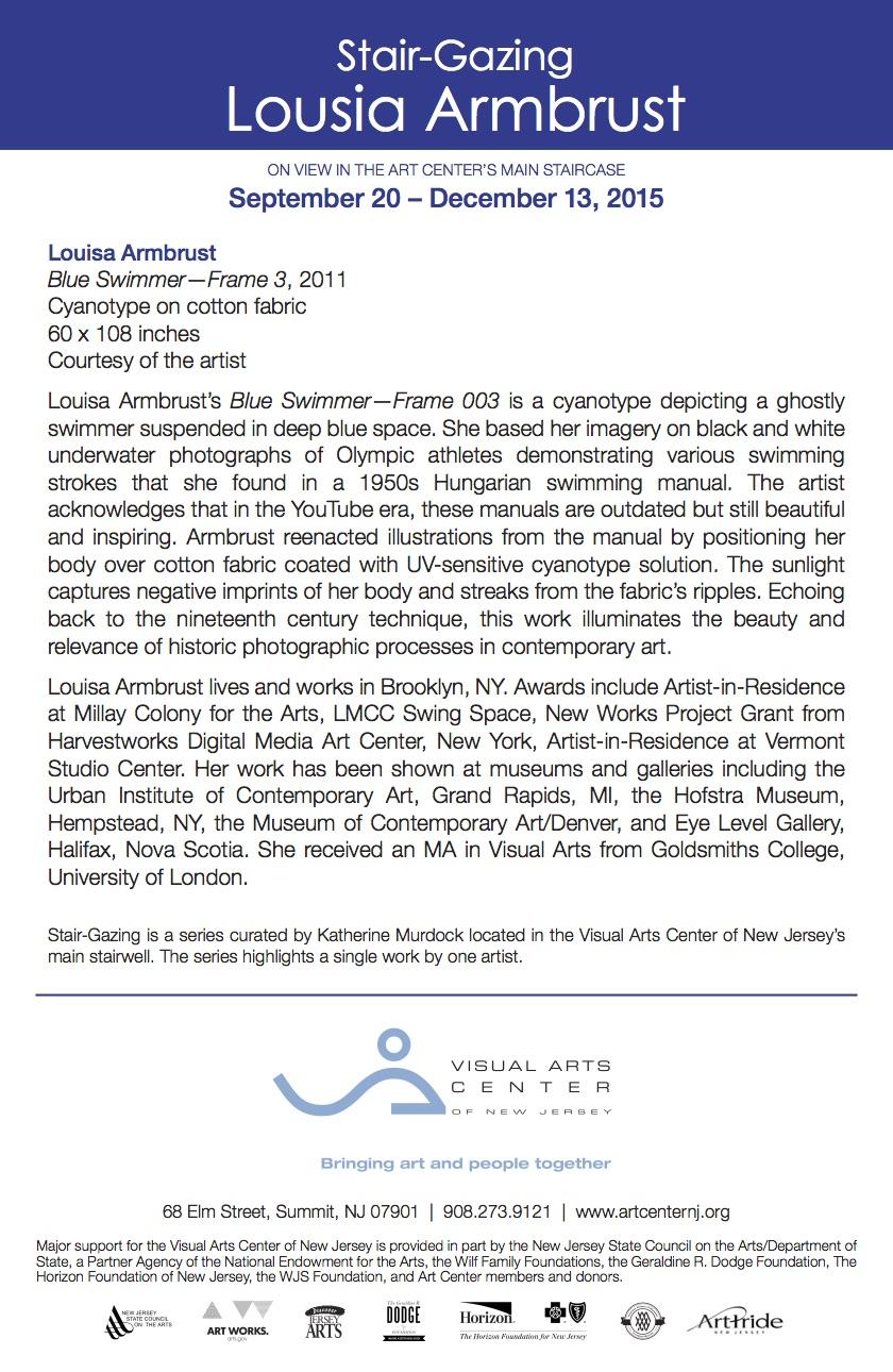 Stair-Gazing: Louisa Armbrust, gallery card (back)