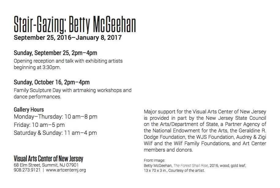 Stair-Gazing: Betty McGeehan, gallery card (back)