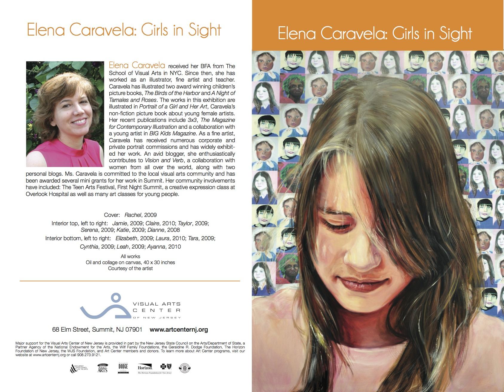 Elena Caravela: Girls in Sight, brochure (outside)