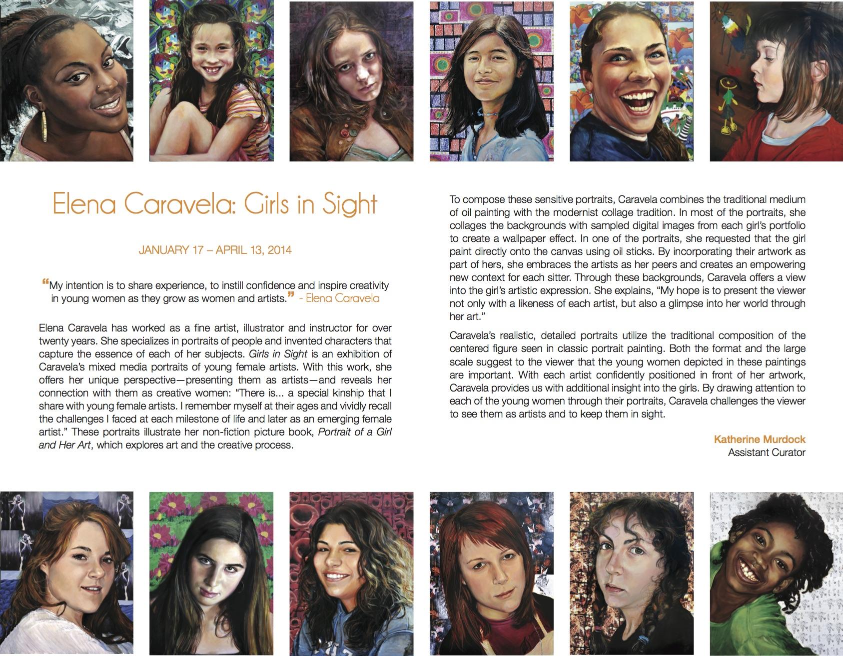 Elena Caravela: Girls in Sight, brochure (inside)