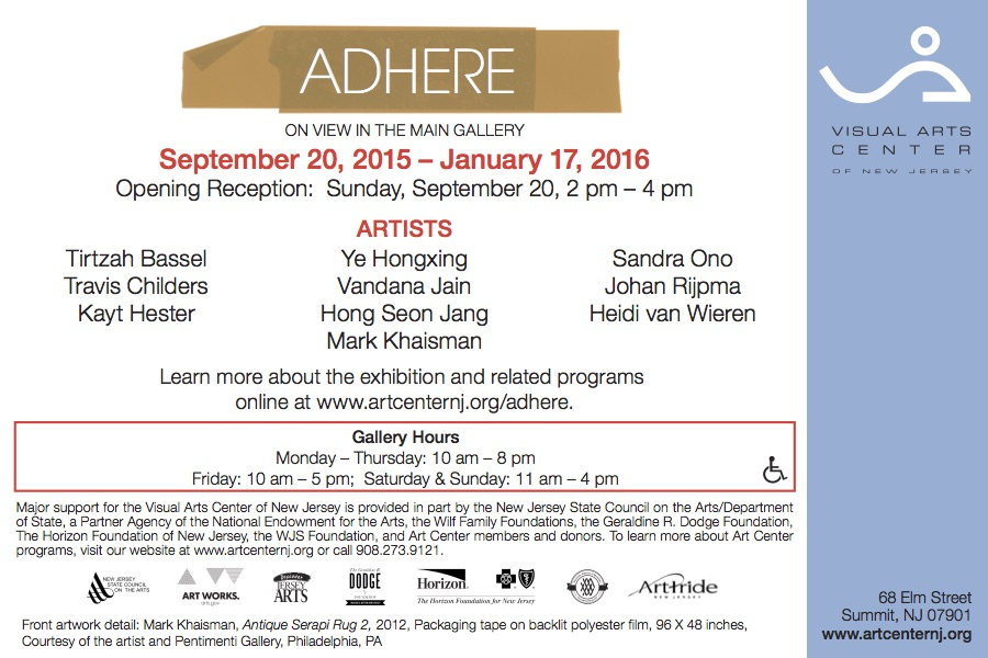 Adhere, gallery card (back)