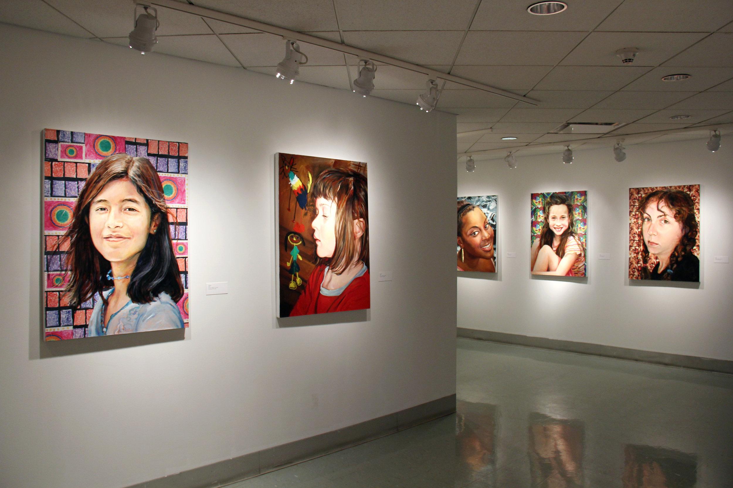 Installation photo of Elena Caravela: Girls in Sight
