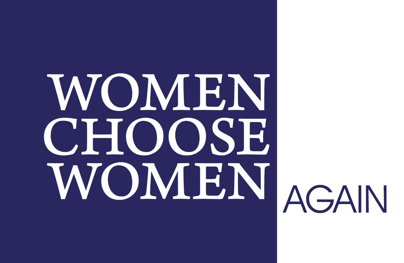 Women Choose Women Again, gallery card (front)