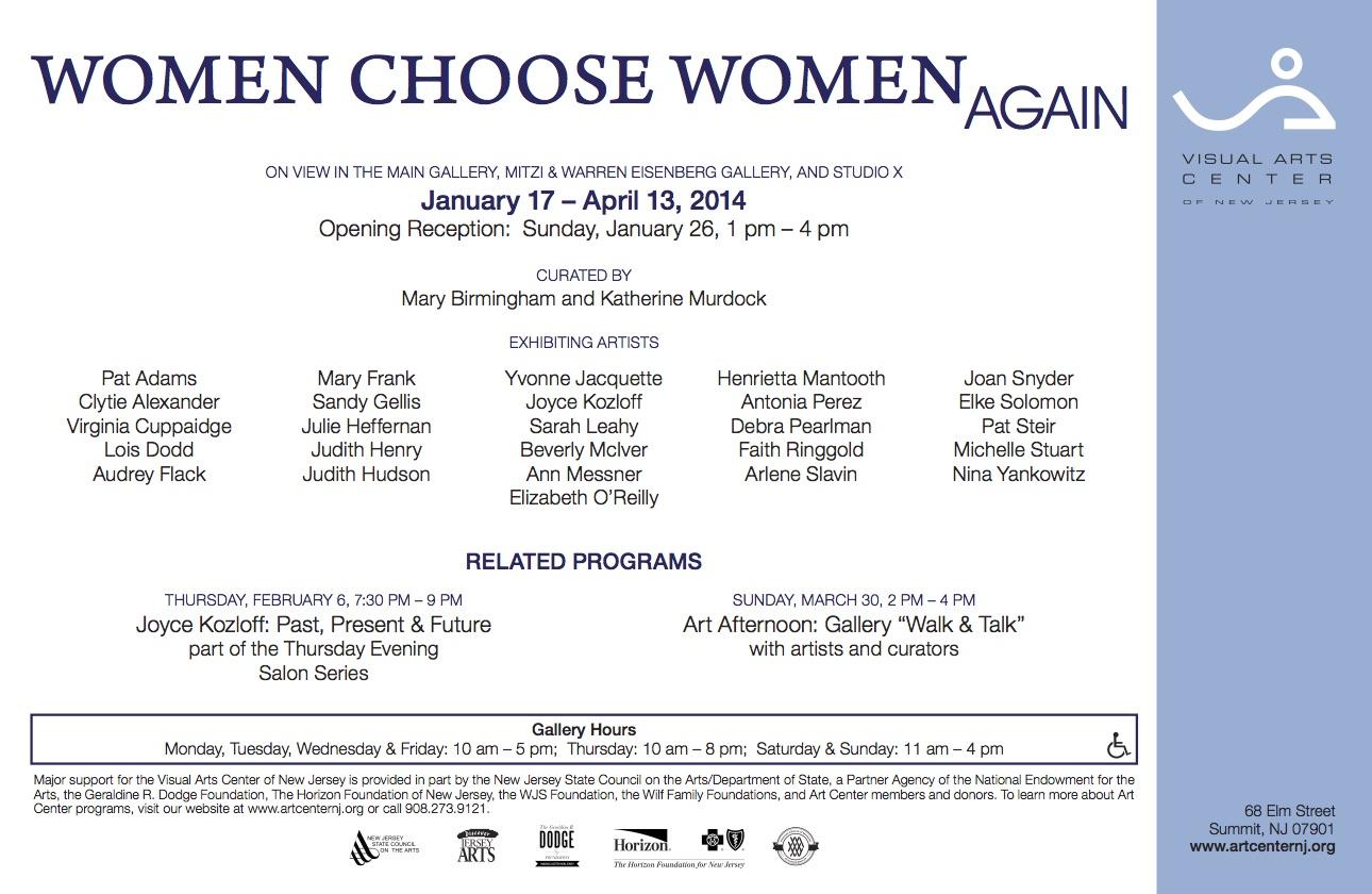 Women Choose Women Again, gallery card (back)