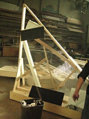 paper mache set design