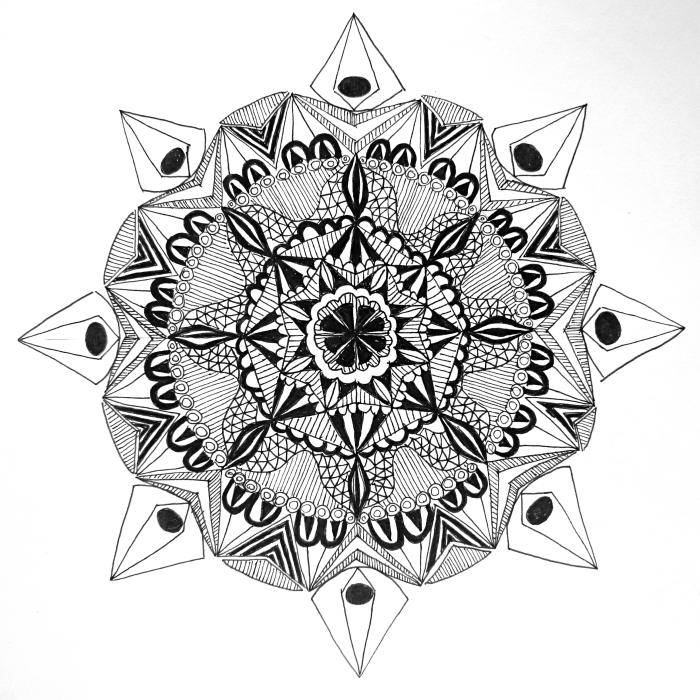 The first mandala that I ever drew