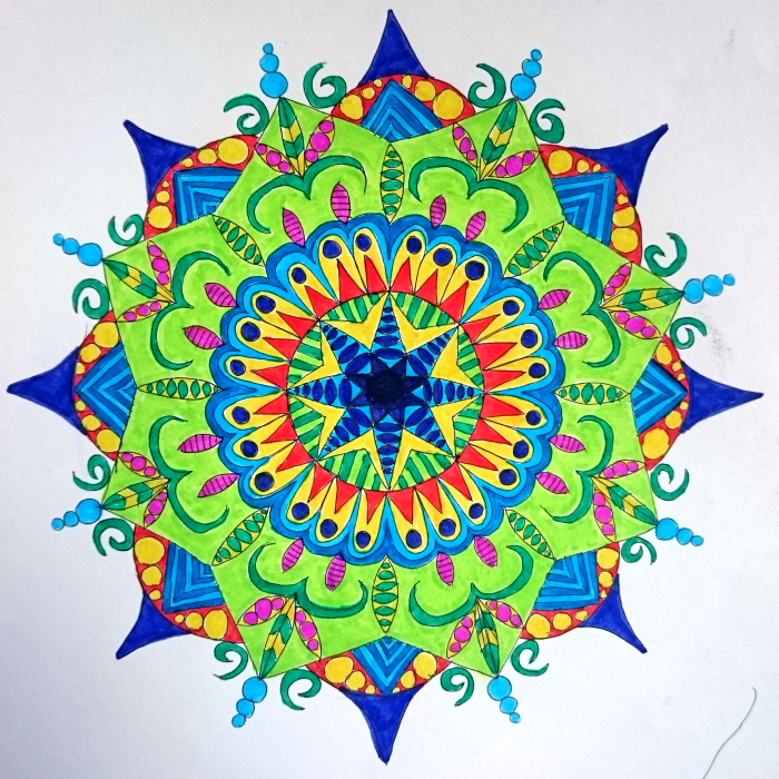 Another mandala experiment, this time with colour