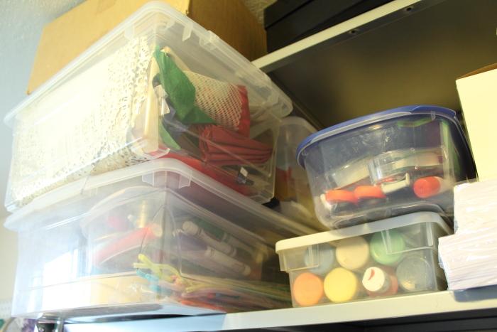 organizing my studio