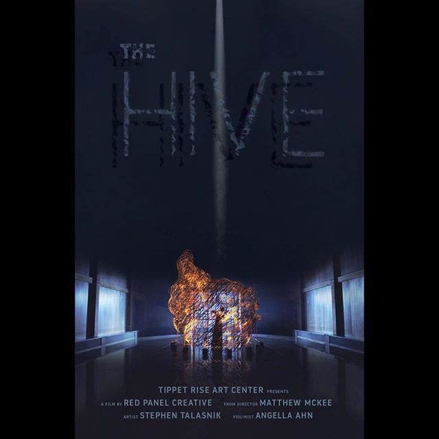 The Hive. A short music film in collaboration with @stephentalasnik and @tippet.rise. Coming soon. . . . . The Hive by @stephentalasnik  Poster Design by @kaitlin.sullivan  Shot by @triple_meat  #director #cinematography #film #art #classicalmusic #musicvideo #music #movieposters #tippetrise #redpanelcreative #violin #aria #thehivemusicfilm