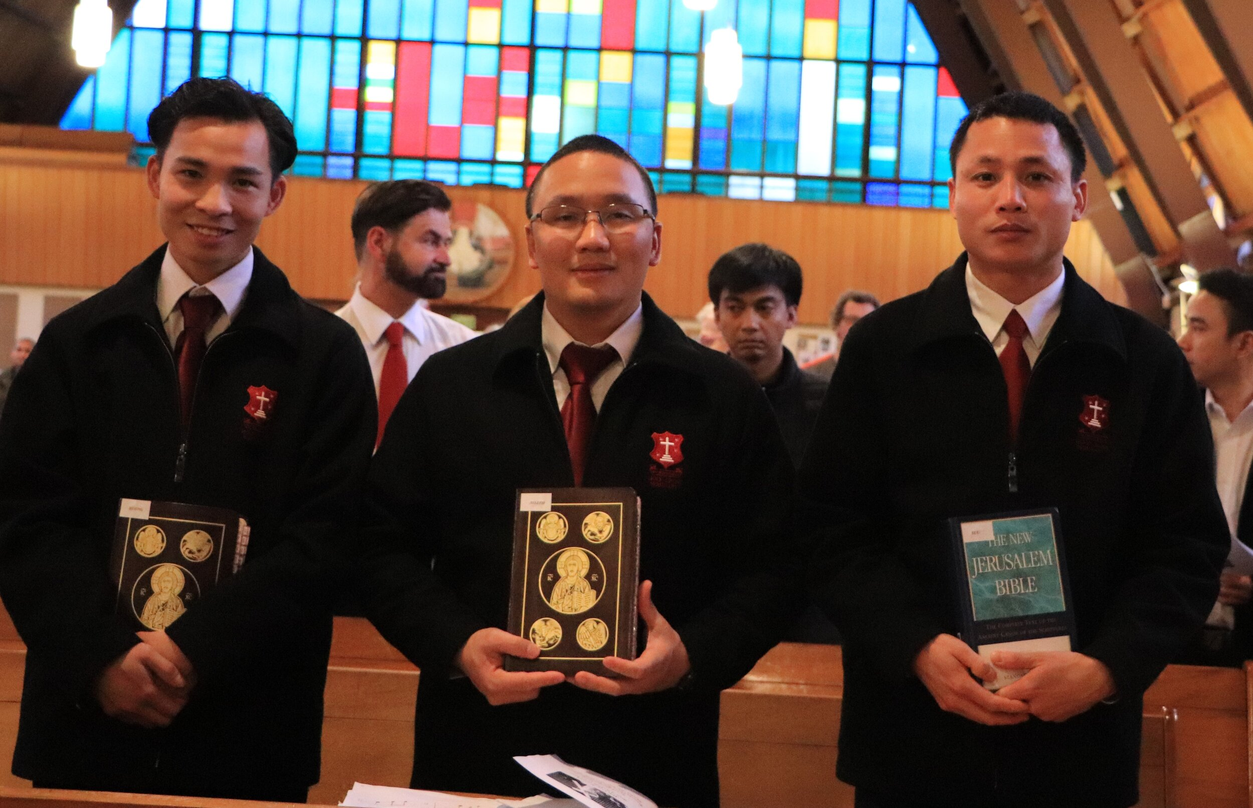 New Lectors - Holy Cross Feast Day - Huong Dinh, Joseph Nguyen, Suu Nguyen