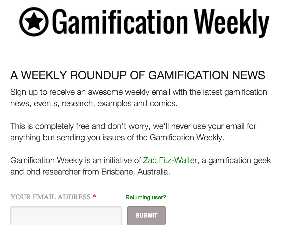 Psst... not a real submission box - but if you do want to subscribe to updates, scroll to the bottom of this page.