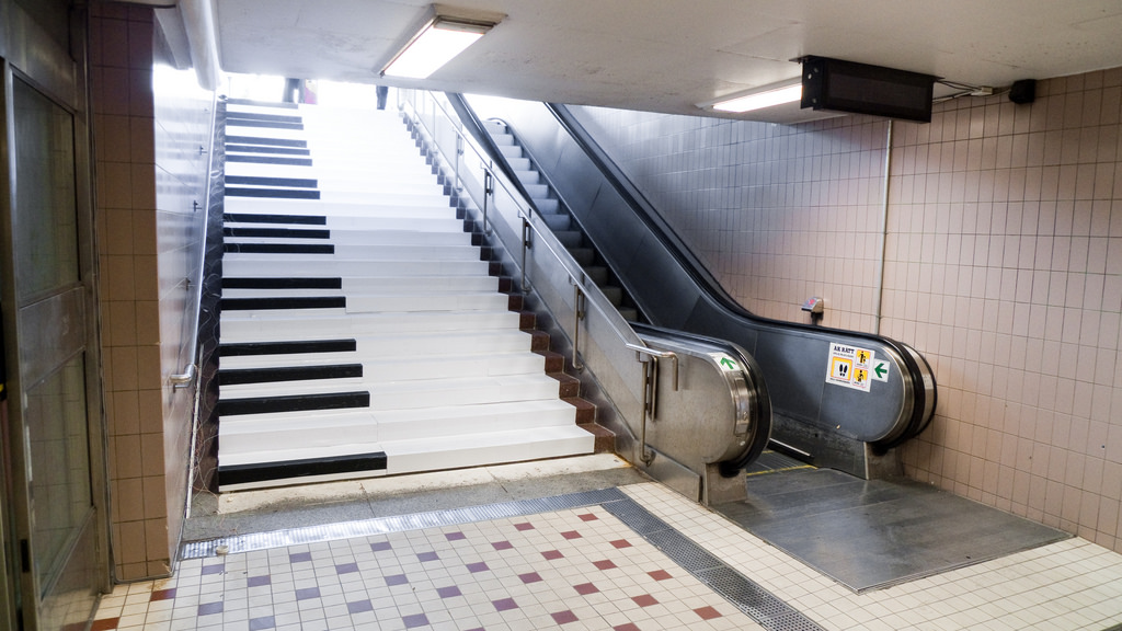 The Piano Stairs - one of the most popular Fun Theory projects ( Image from KJ Vogelius )