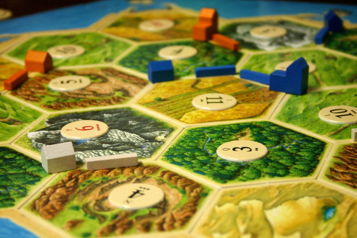 Settlers of Catan. Image from  ginnerobot on Flickr