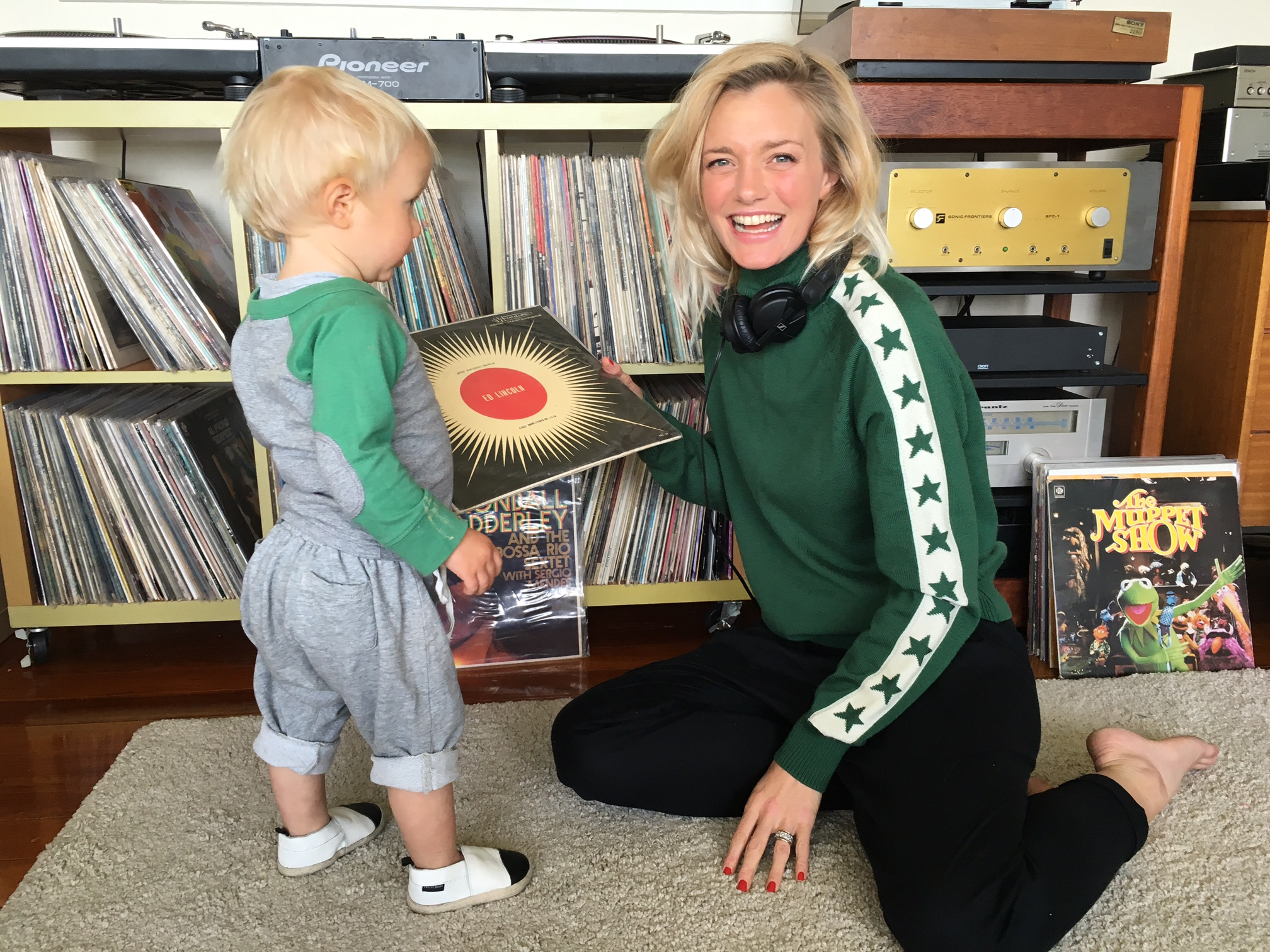 ZOOT AND JAIMIE CHOOSING RECORDS FOR 'THE INN CROWD' @ THE OYSTER INN on WAIHEKE ISLAND