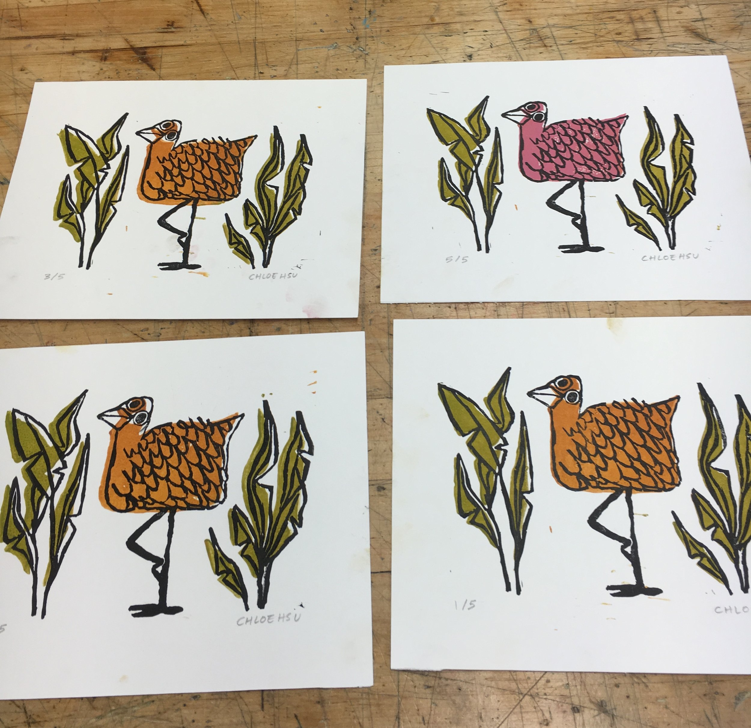 """Beast"" Linocut Prints"