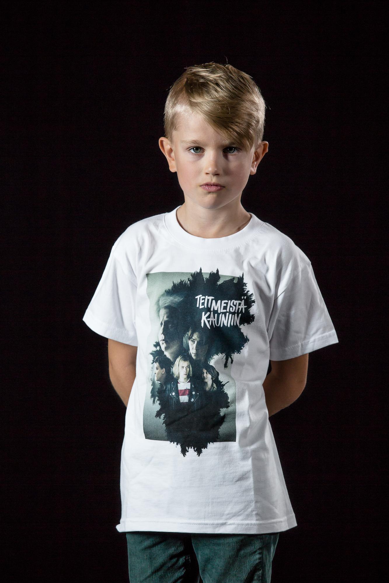 Juliste-paita lasten 122-128cm valkoinen - unisex