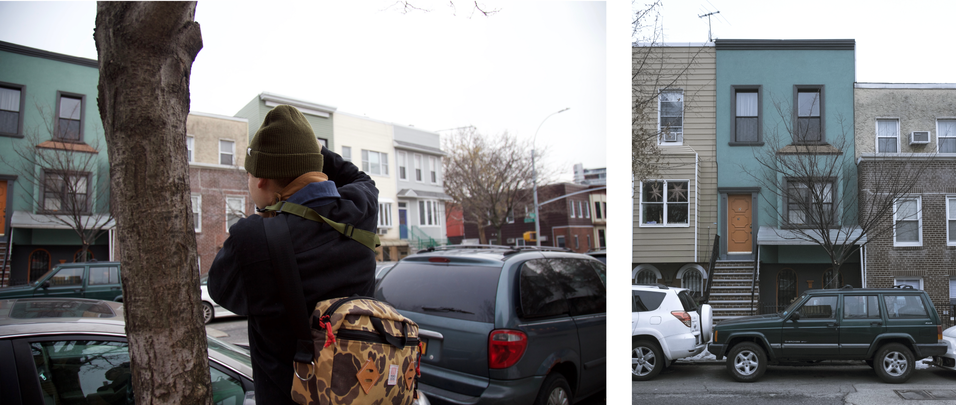 We took a little stroll through Greenpoint to check out some of the multicolored homes and hidden neighborhoods.