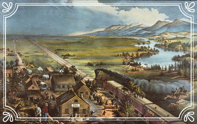 WESTWARD THE COURSE OF EMPIRE TAKES ITS WAY (Currier & Ives)