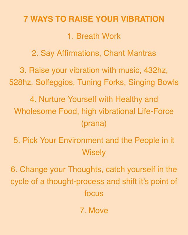 RAISE YOUR VIBRATION  All 7 of these resonate so much with me and all are very important. Been wanting to make a post for a while about this but @hara_thelabel have summed it up nicely. 💫💫💫