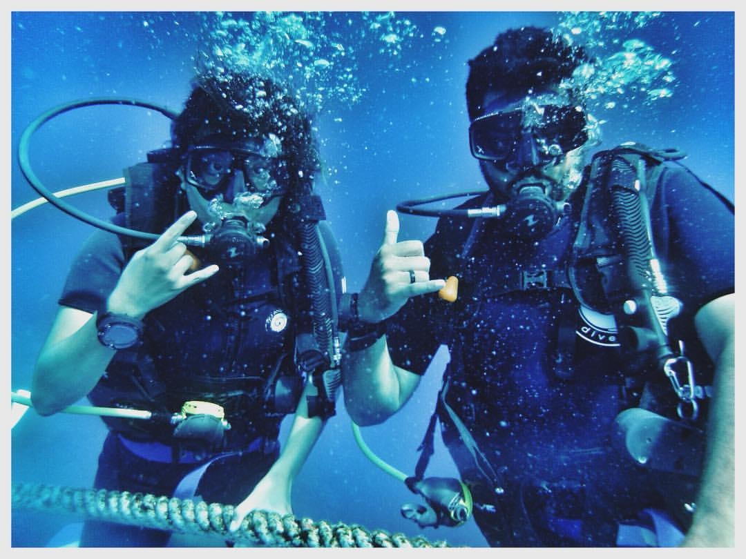 My dive buddy, Nishant, and I are about to complete our dive license!