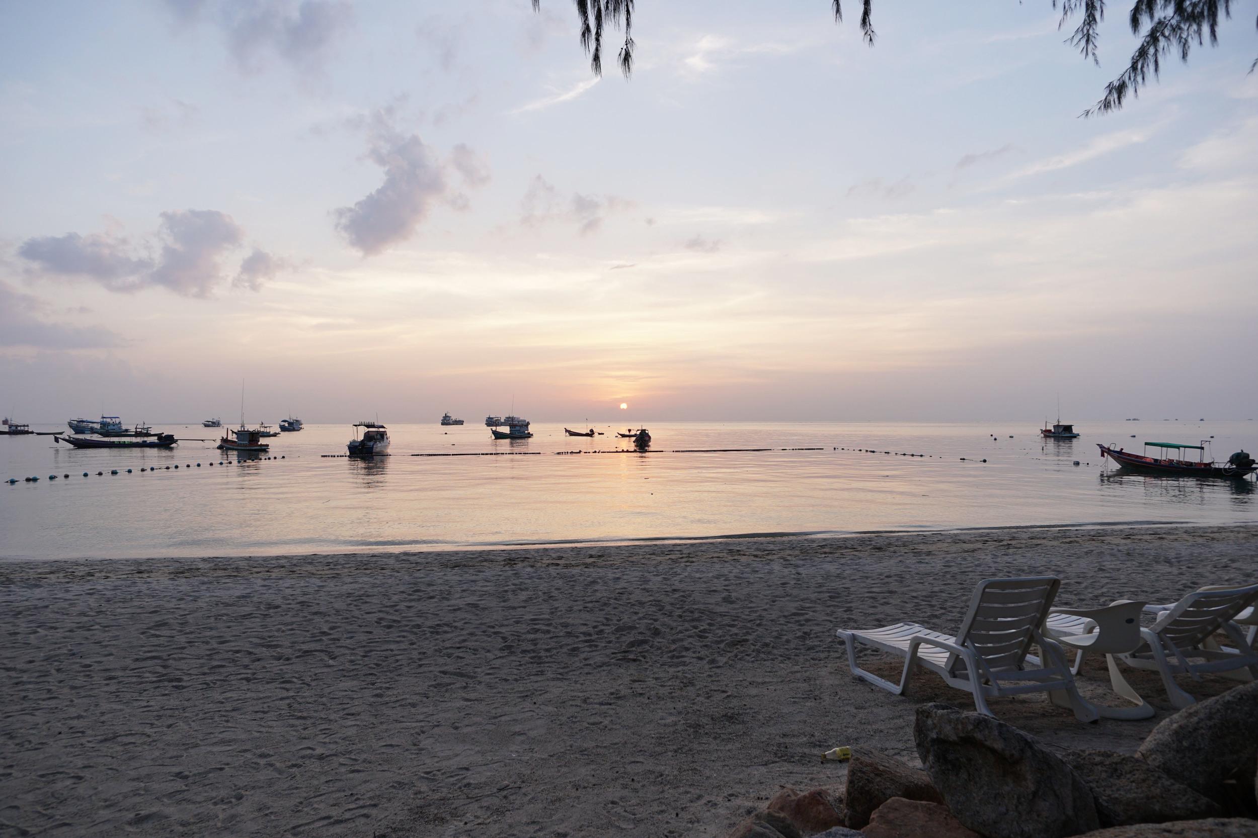 Sunset at Mae Haad Beach