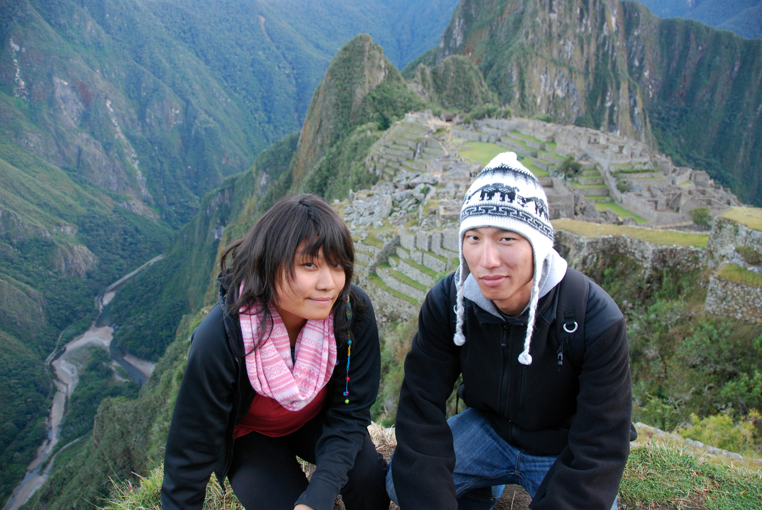 At the top of Machu Picchu