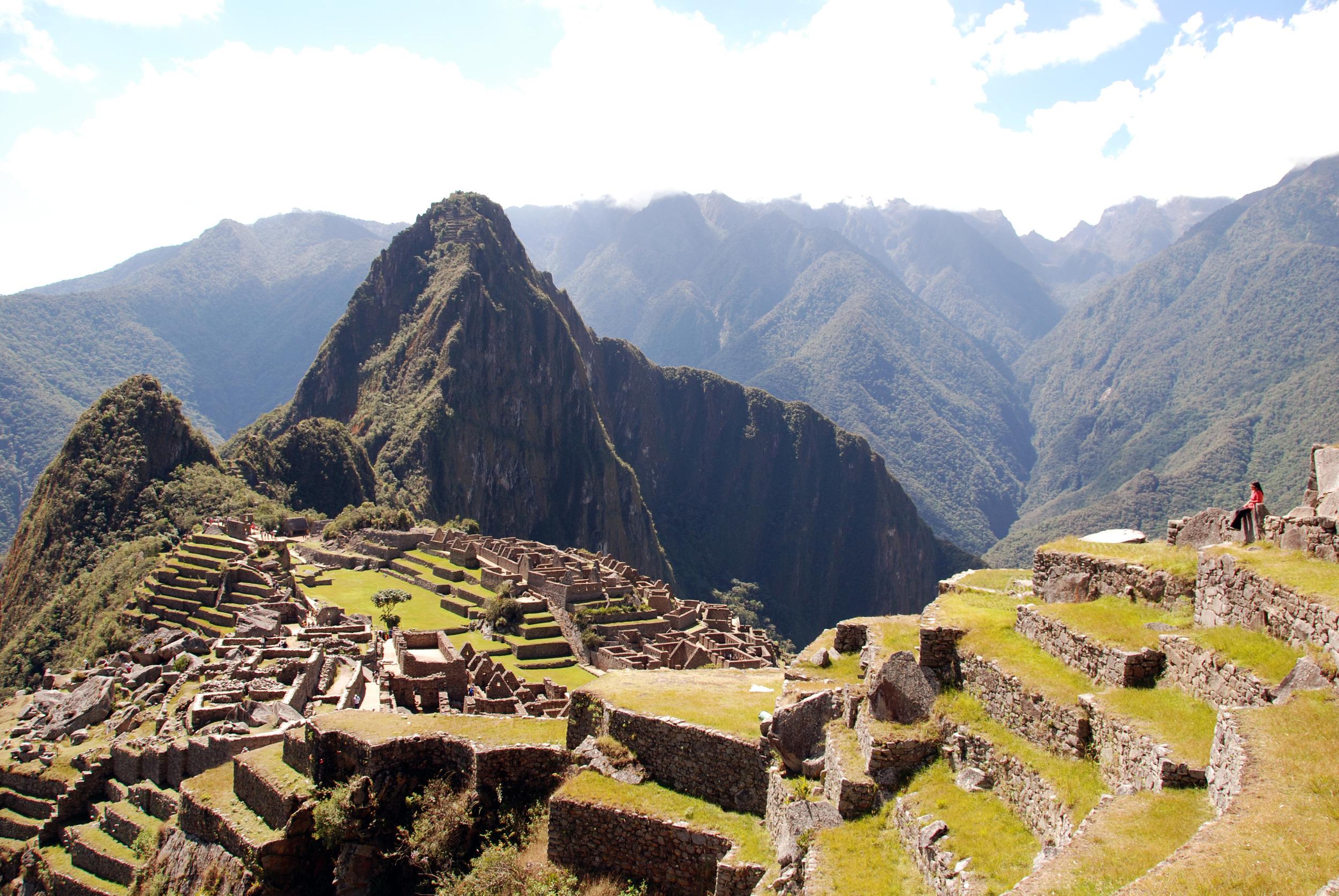 Machu Picchu at noon