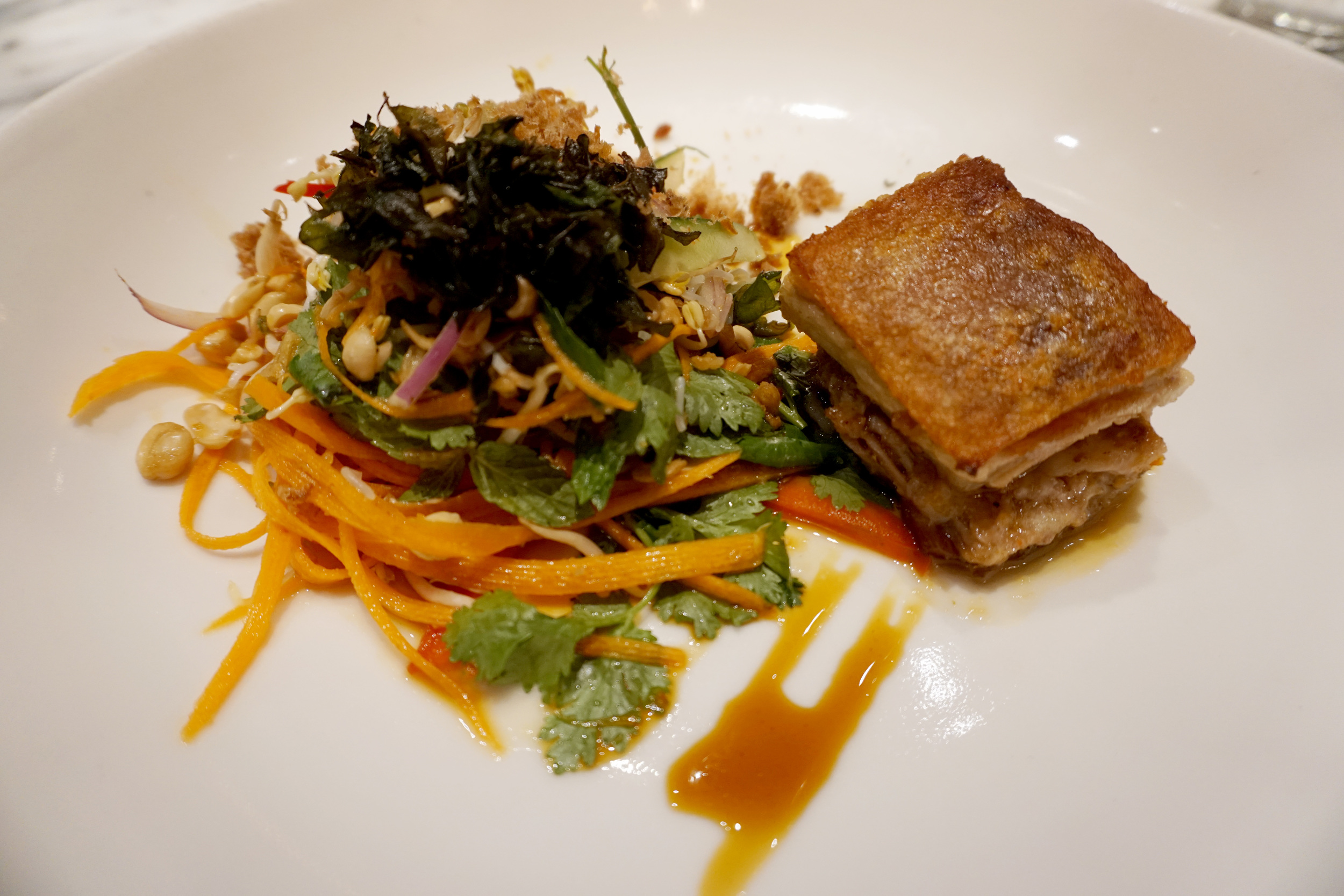 Pork Belly Salad at Sisterfield's