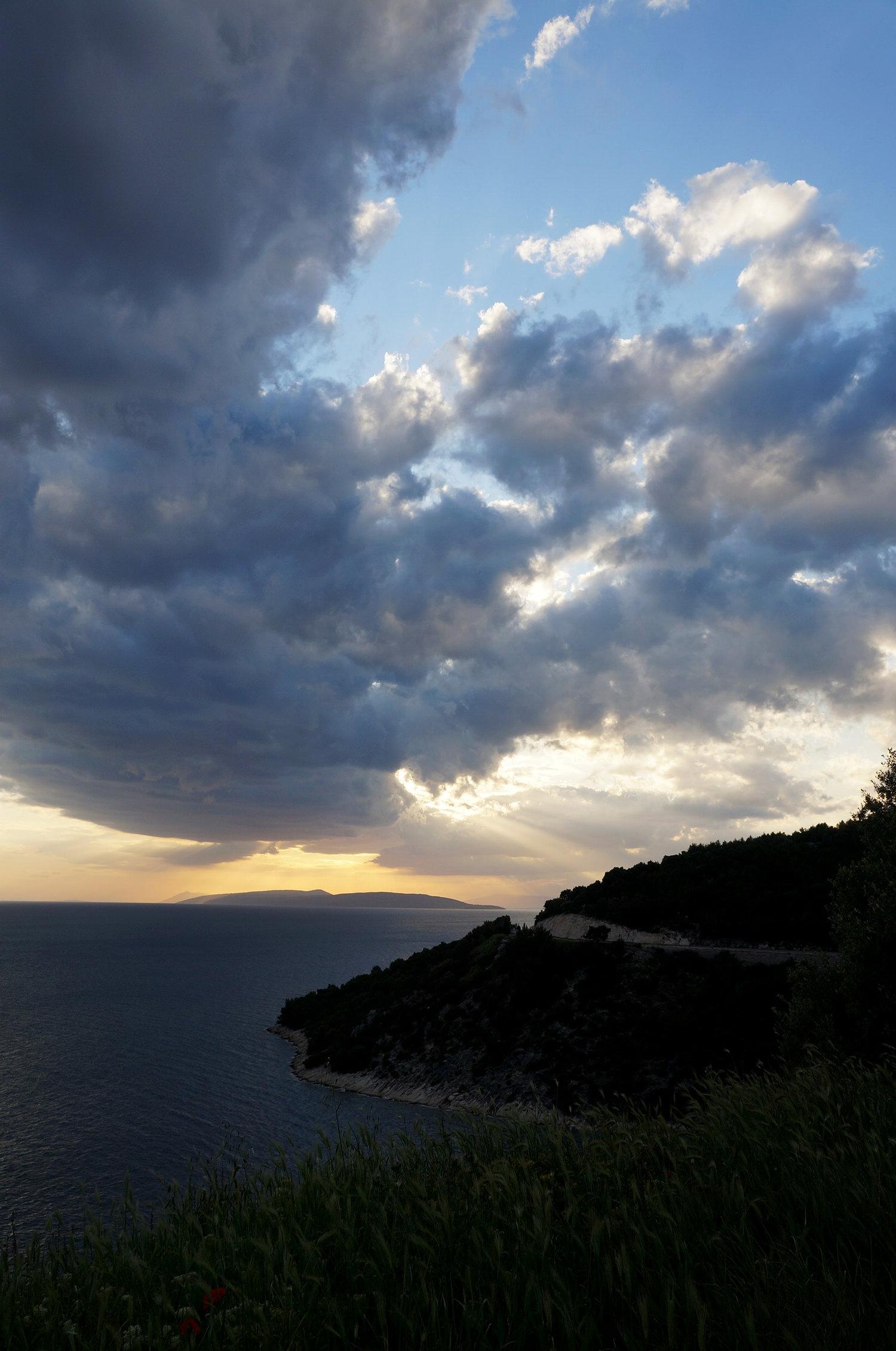 Coastal sunset drive