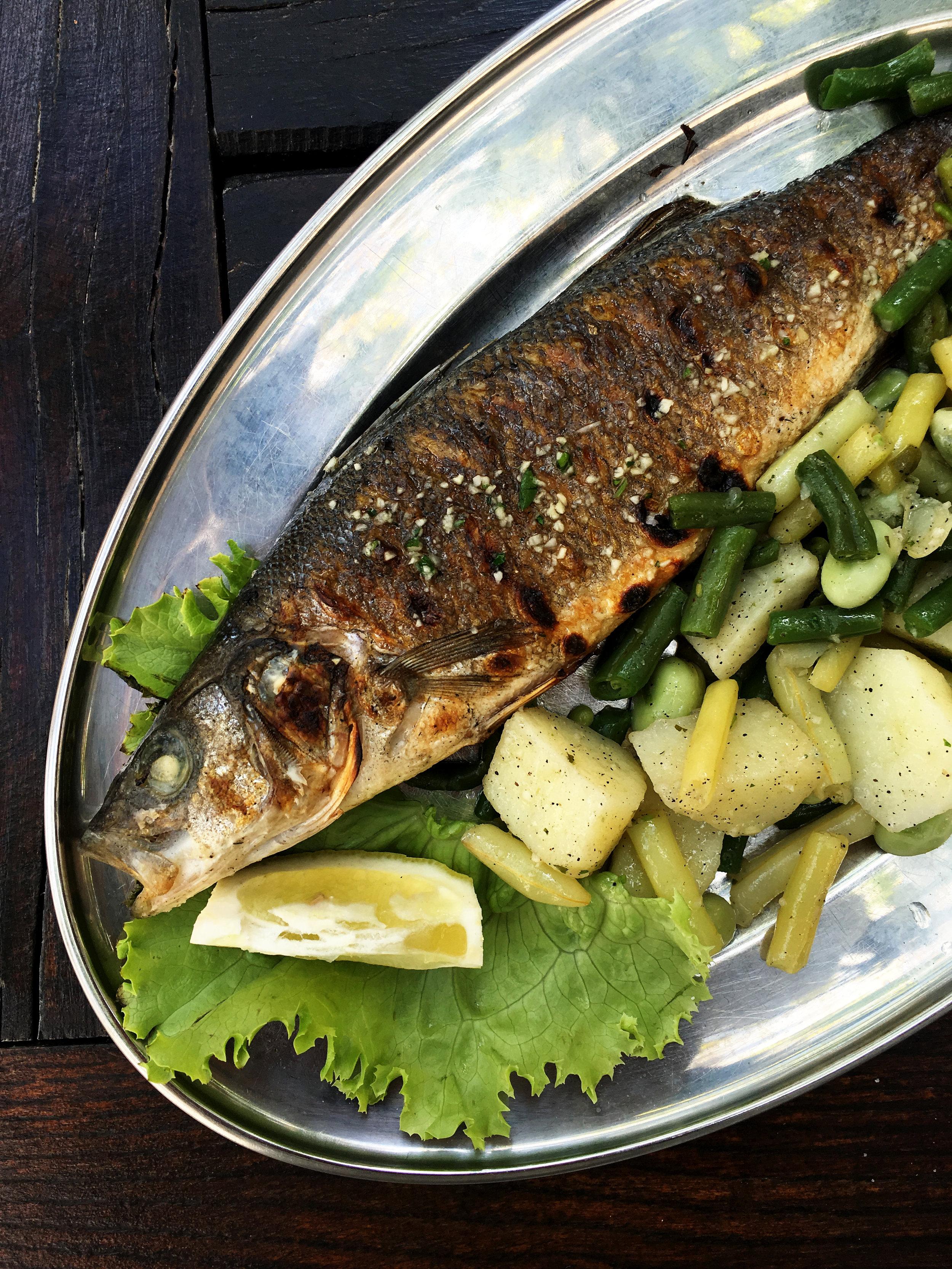 Grilled fish at Lady Pi Pi