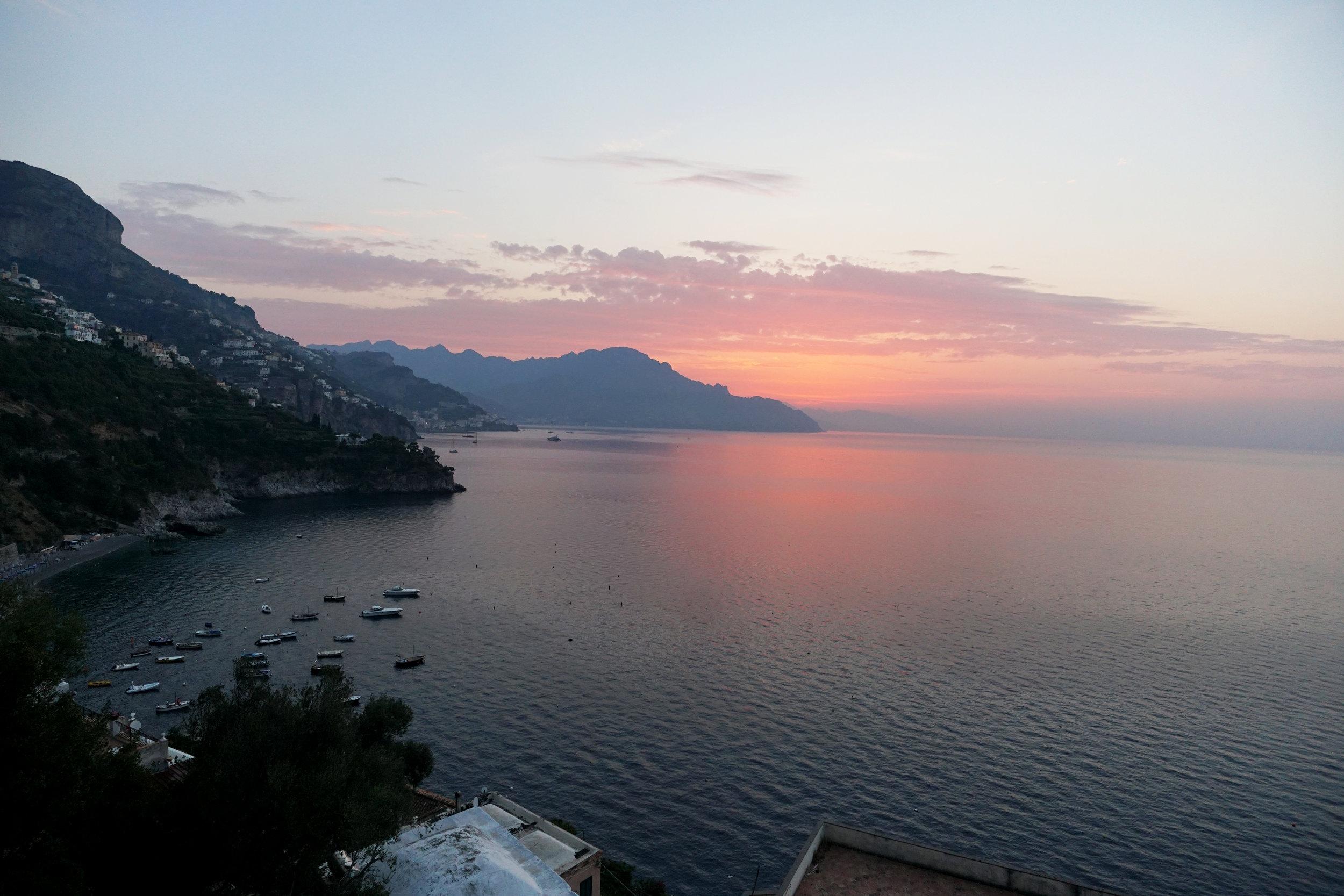 Sunrise from Conca dei Marini
