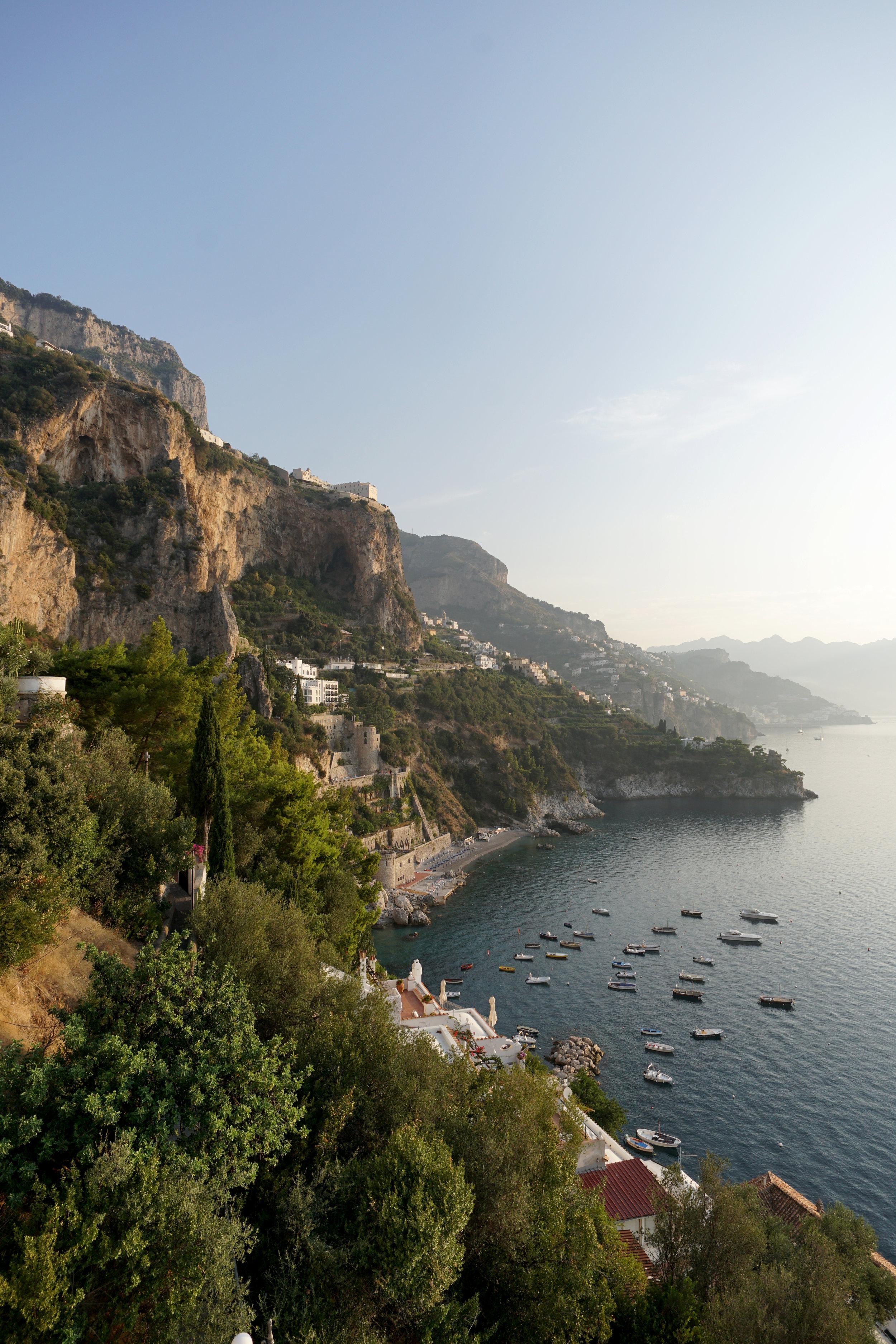 Amalfi Coast at sunrise
