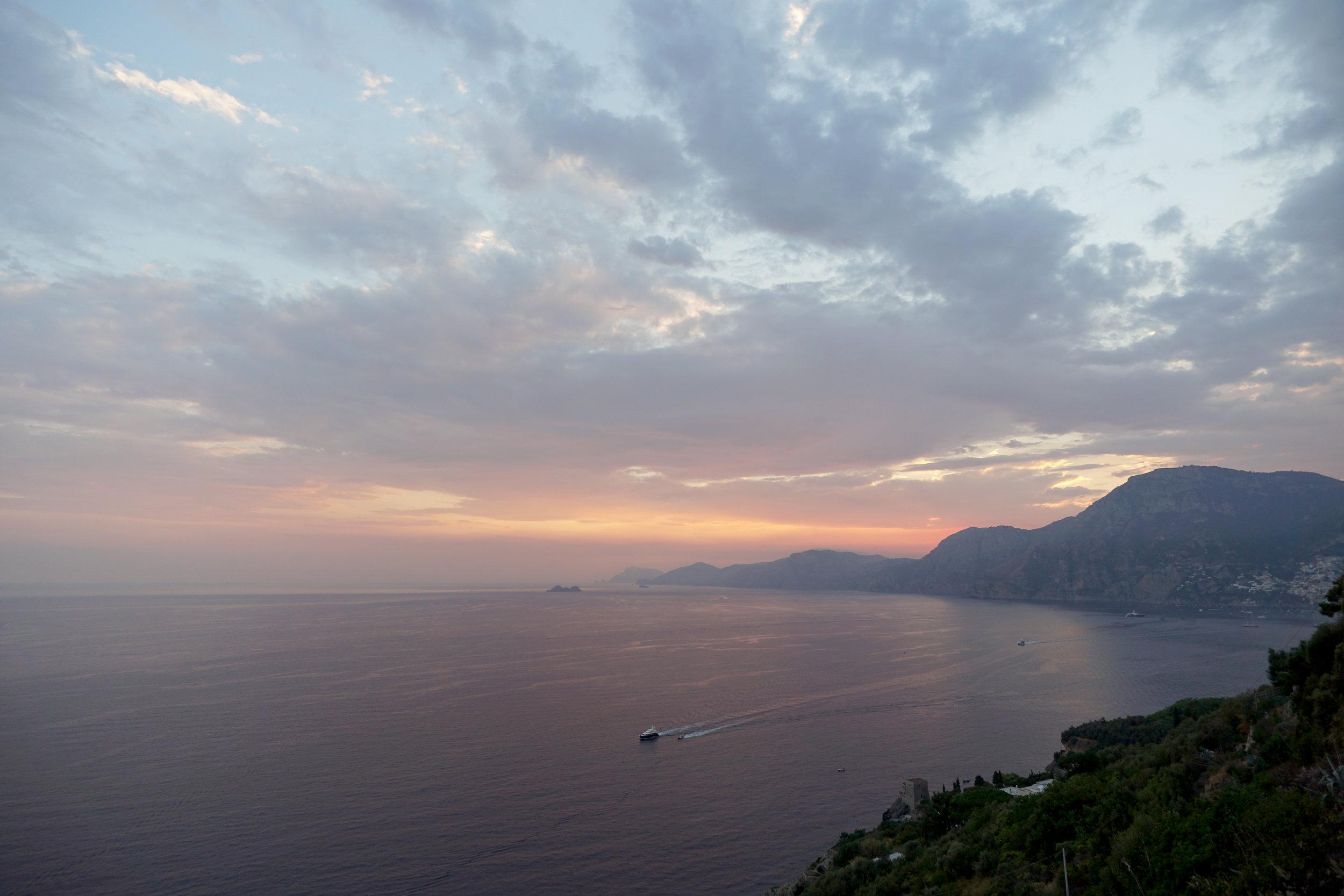 Sunset at Praiano