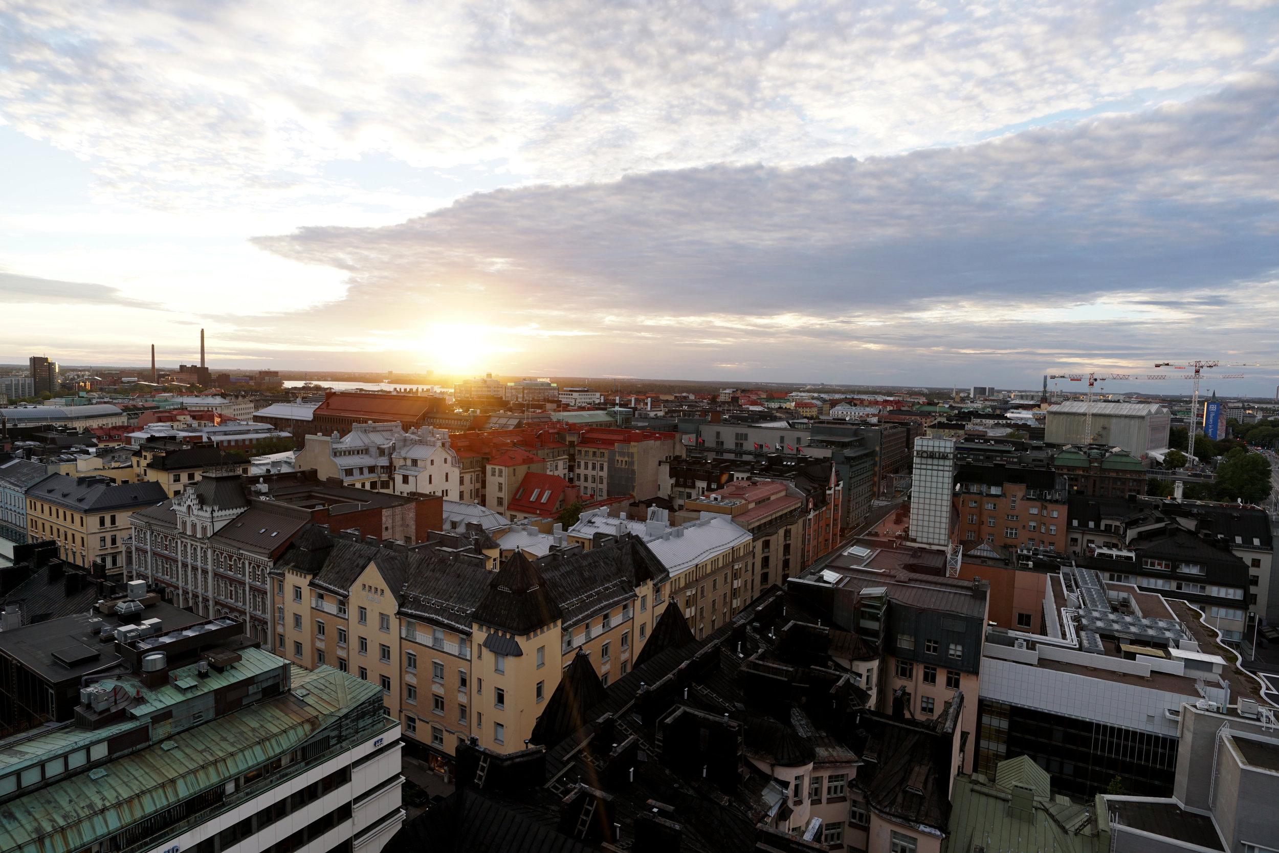 Helsinki at sunset