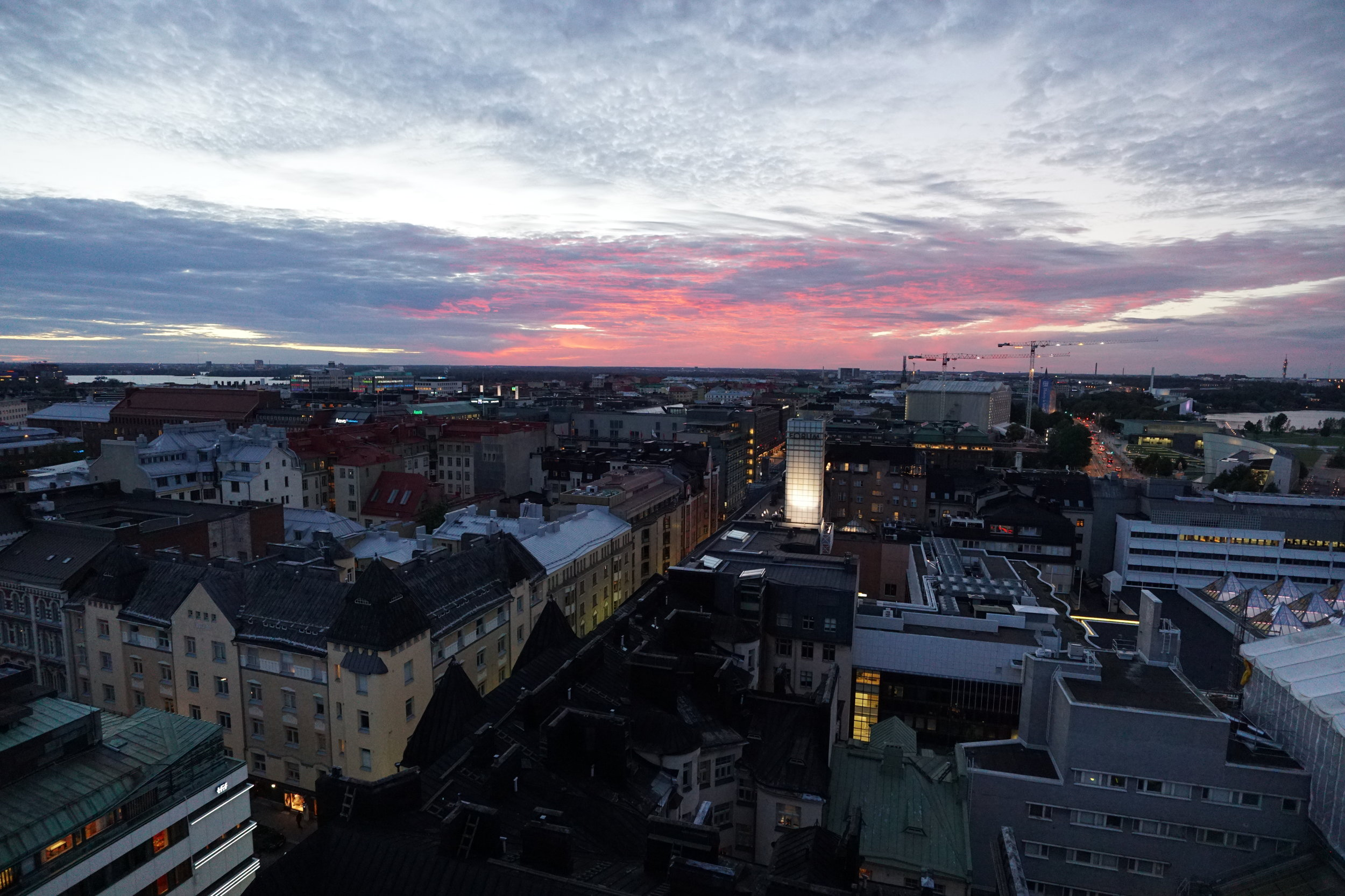 Can you believe it's 9 pm in Helsinki?