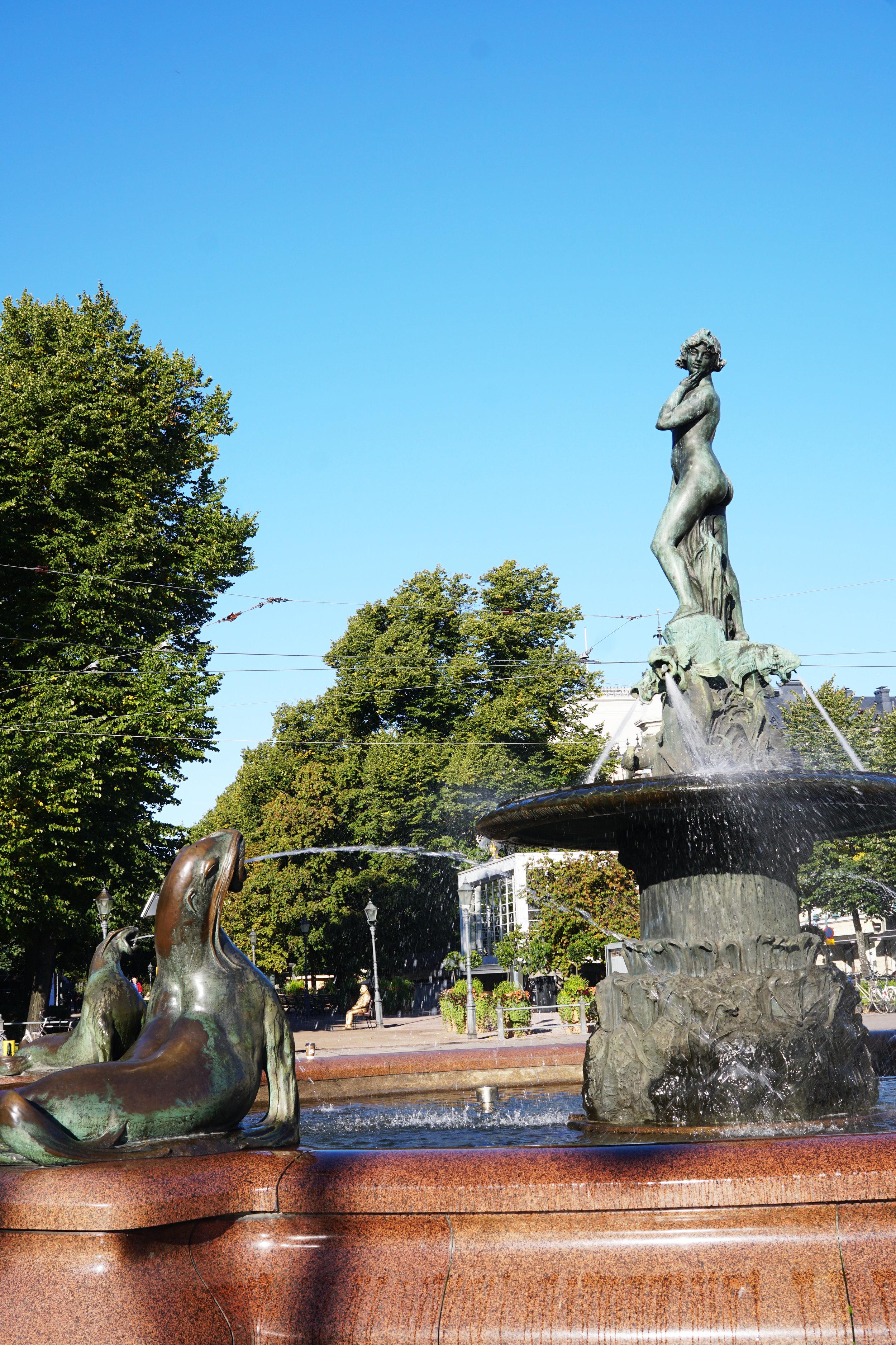 Fountain at the end of Esplanadi