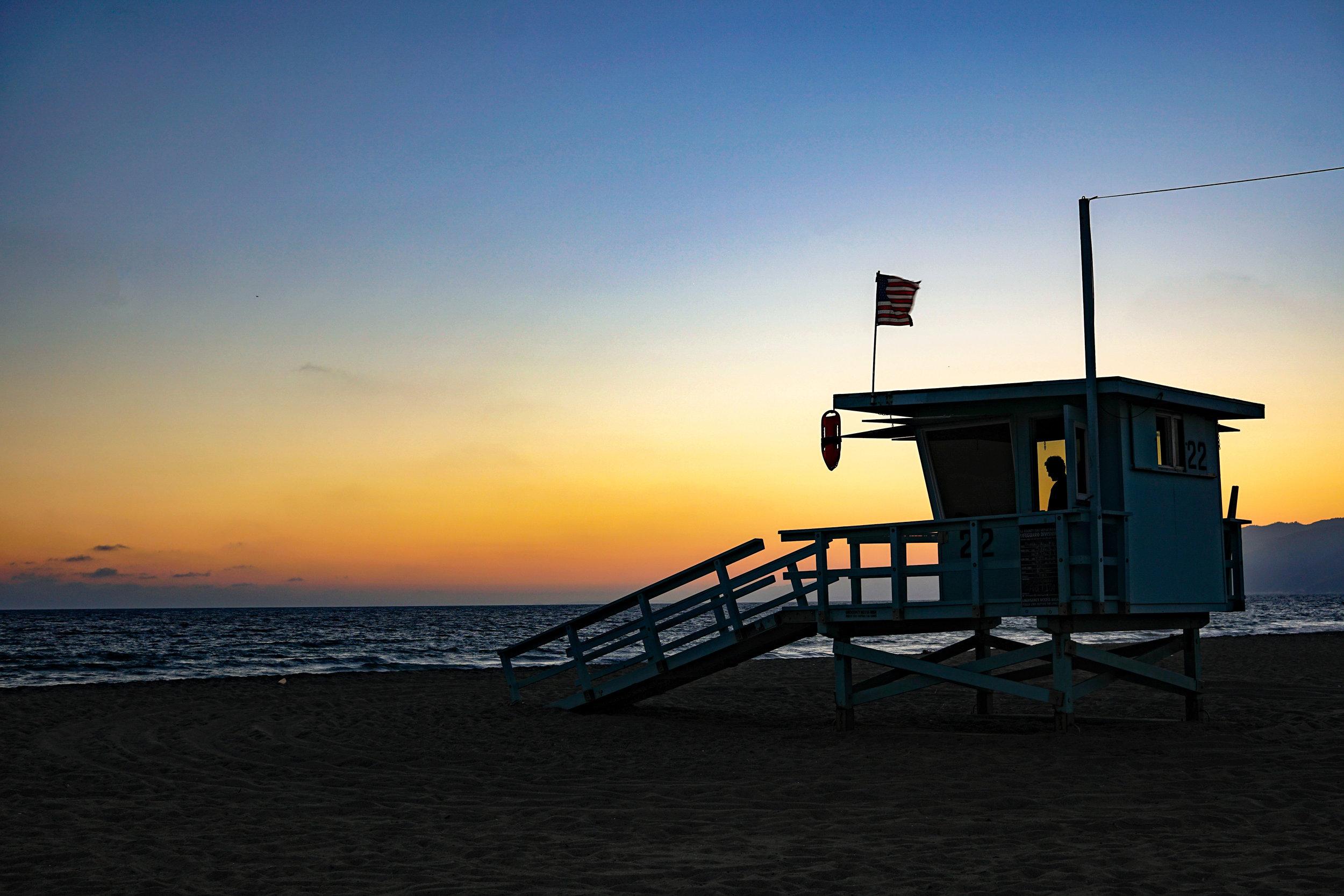 1. Beach sunsets at Santa Monica